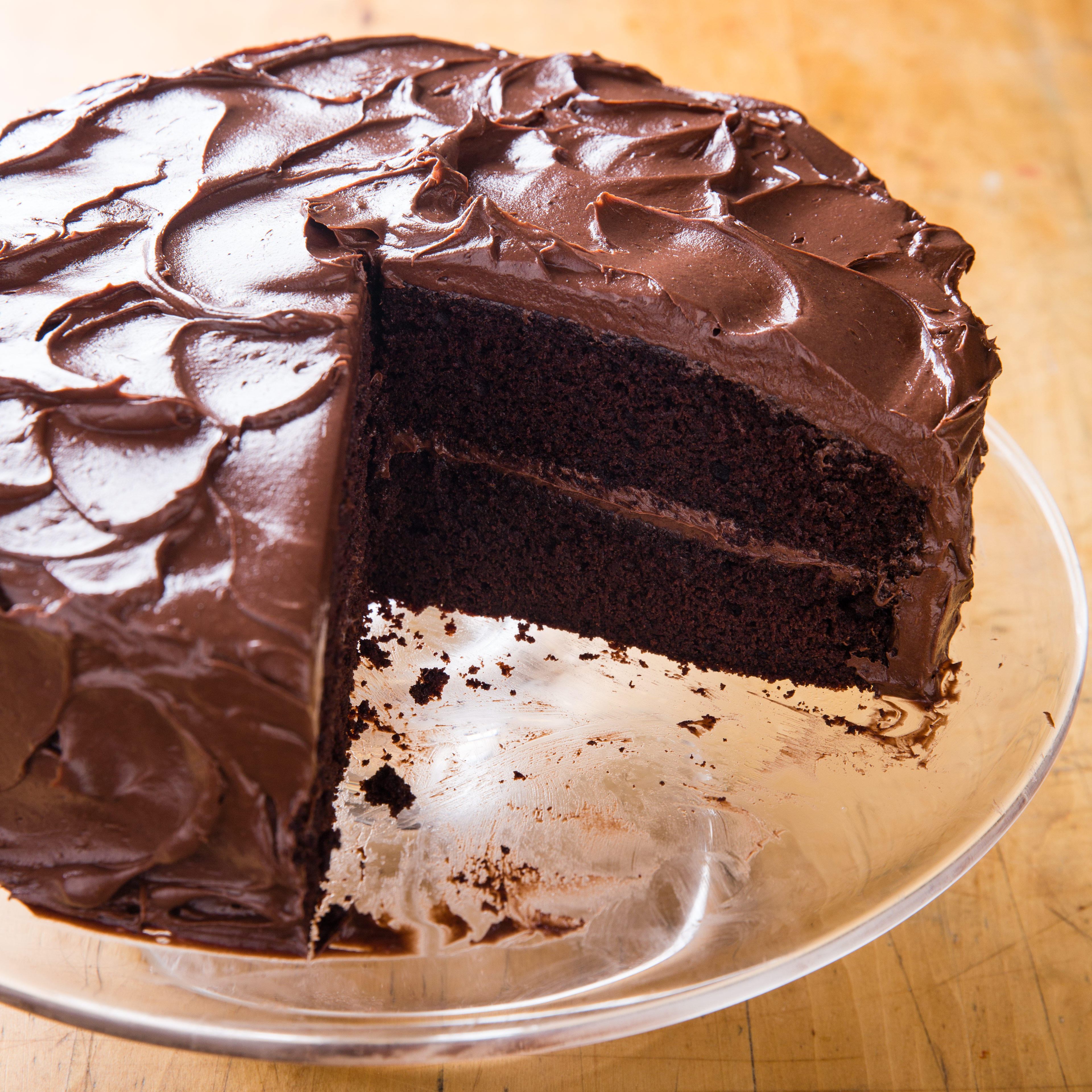 Old Fashioned Chocolate Cake - The Kitchen Magpie 95