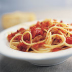 Pasta with Tomato, Bacon, and Onion—Pasta alla Amatriciana