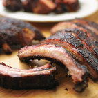 Barbecued Baby Back Ribs For Charcoal Grill