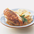 Pan-Roasted Chicken Breasts with Sage-Vermouth Sauce