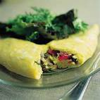Perfect Cheese Omelet with Sauteed Mushroom and Thyme Filling