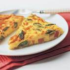 Leek, Prosciutto, and Goat Cheese Frittata