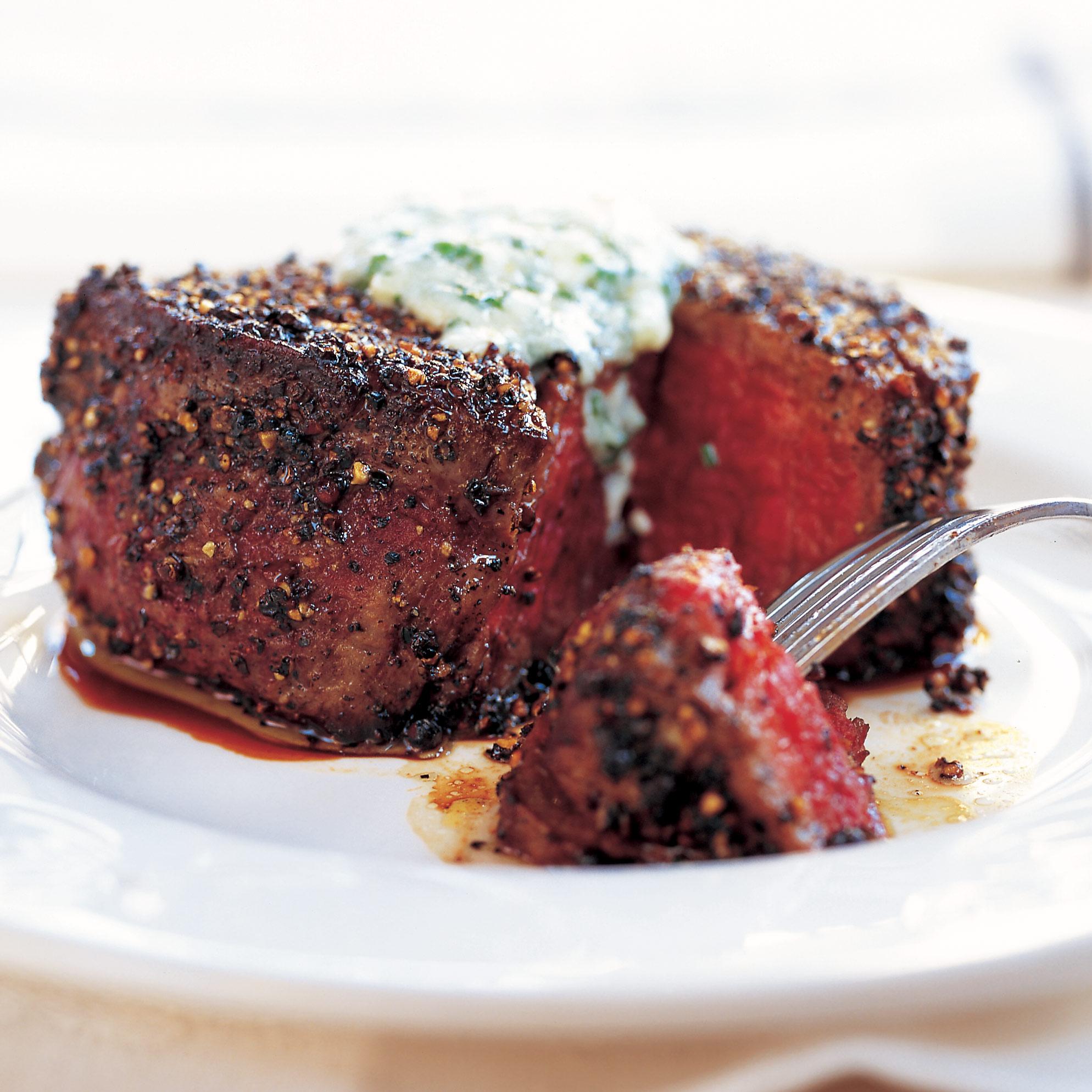 Pepper-Crusted Filet Mignon Recipe - America's Test Kitchen