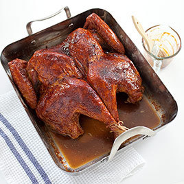 Crisp-Skinned Butterflied Roast Turkey With Gravy Recipe ...