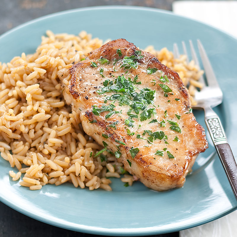 Skillet Pork Chops And Rice