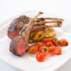Grilled Rack of Lamb on a Charcoal Grill
