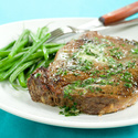 Broiled Rib-Eye Steaks with Fresh Herb Butter