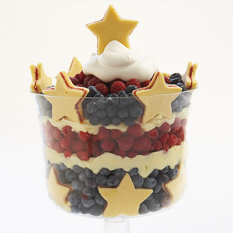 Stars and Stripes Berry Trifle Recipe - Cook's Country