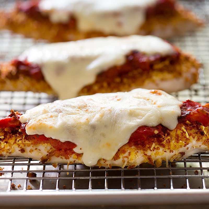 Low-Fat Chicken Parmesan for Two