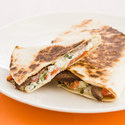 Steak Quesadillas with Roasted Peppers and Boursin