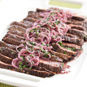 Flank Steak with Shallot-Mustard Sauce