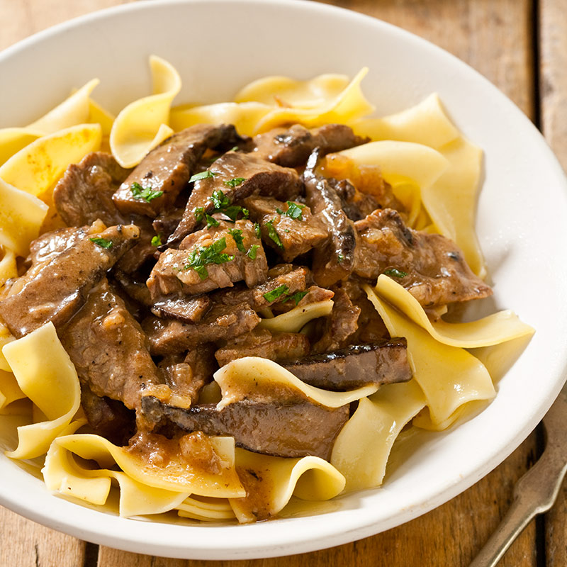 Reduced-Fat Beef Stroganoff