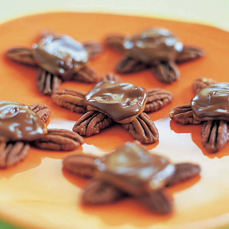 Choco-Caramel Turtles Recipe — Dishmaps