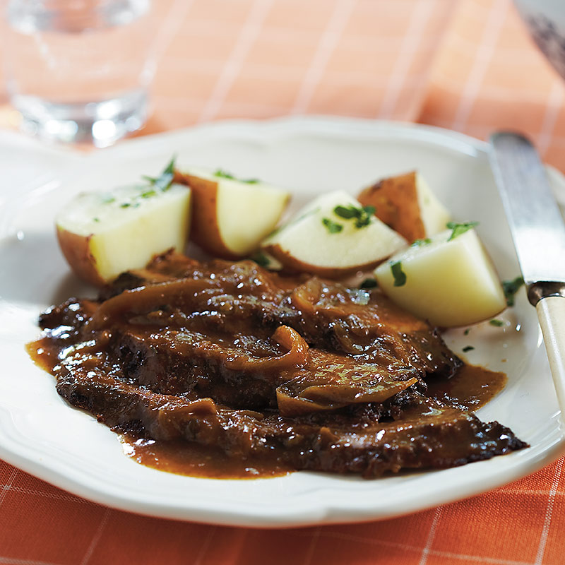 Slow-Cooker Brisket And Onions Recipe — Dishmaps