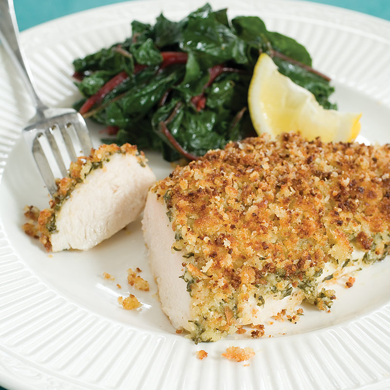 Baked Chicken Breasts with Parmesan-Garlic Crust
