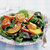 Stone Fruit Salad with Camembert Croutons over Mixed Greens