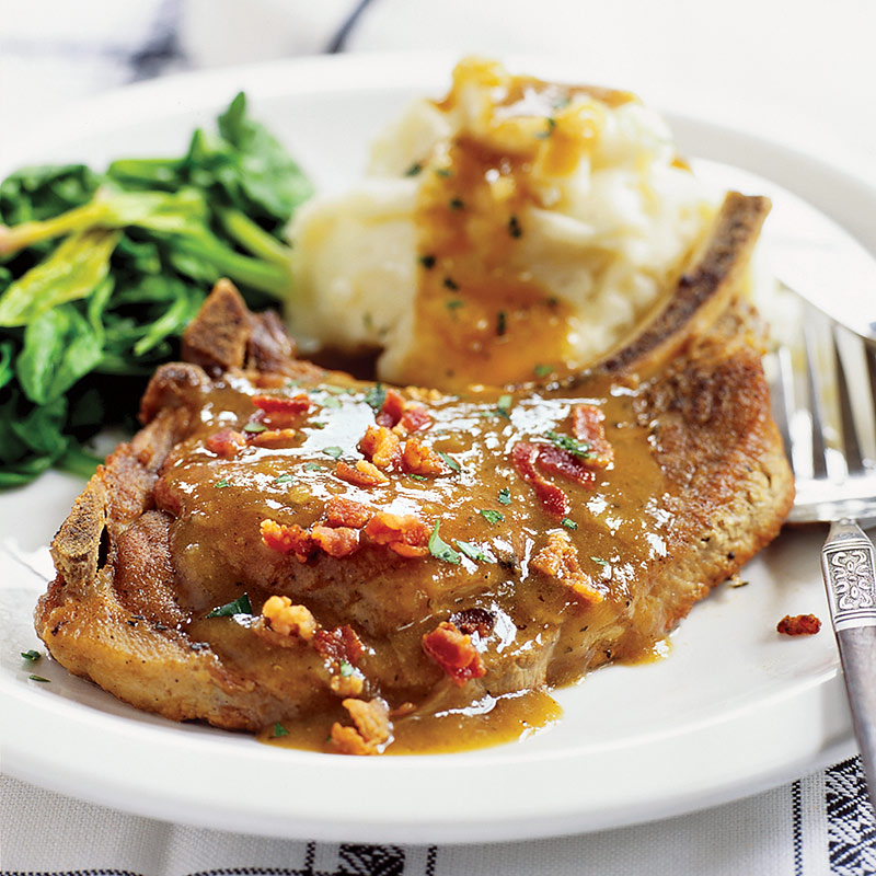 Slow Cooked Smothered Pork Chops