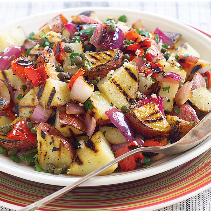 Grilled Potato Salad Recipe — Dishmaps