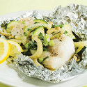 Foil-Roasted Cod with Herbed Vegetables
