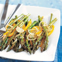 Roasted Asparagus with Peppers and Shallots
