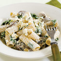 Rigatoni with Portobellos and Gorgonzola Cream