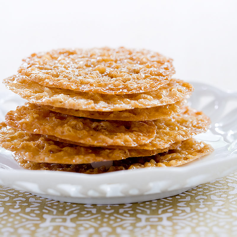 Lacy Almond-Orange Cookies Recipe — Dishmaps