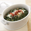 Creamed Spinach with Parmesan and Prosciutto