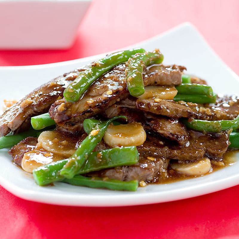Stir-Fried Beef with Green Beans and Water Chestnuts Recipe - Cook's ...