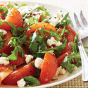 Marinated Tomato Salad with Arugula and Goat Cheese