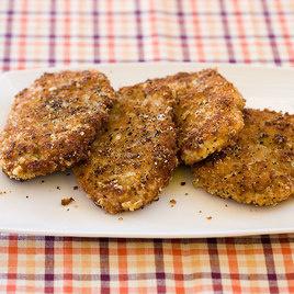 Crispy Parmesan Pepper Pork Cutlets