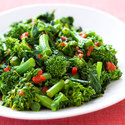 Sauteed Broccoli Rabe with Roasted Red Peppers