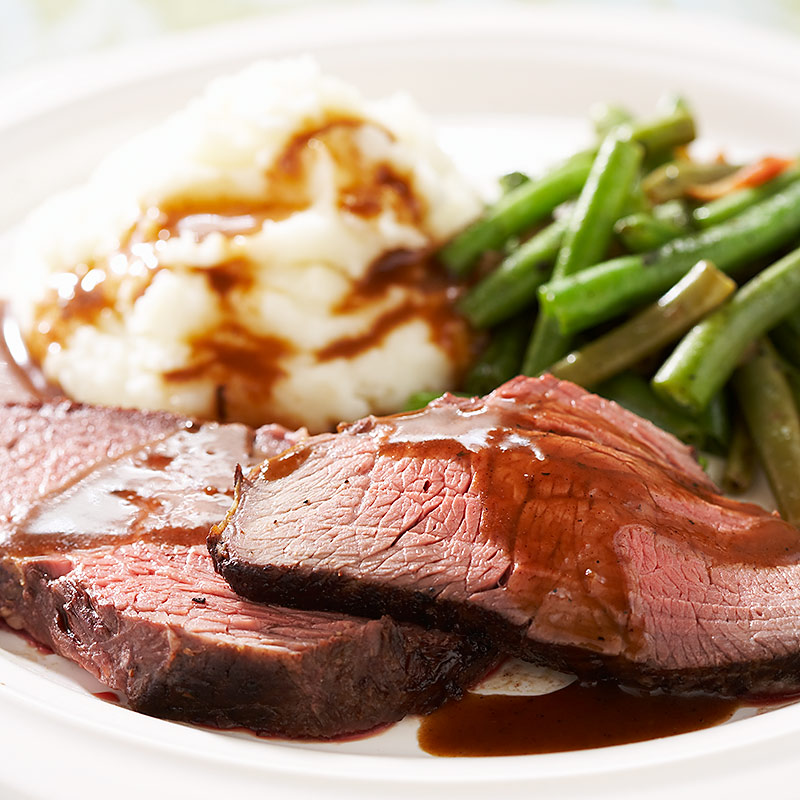 Classic roast beef and gravy for How to make beef gravy from drippings