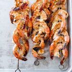 Charcoal-Grilled Shrimp Skewers