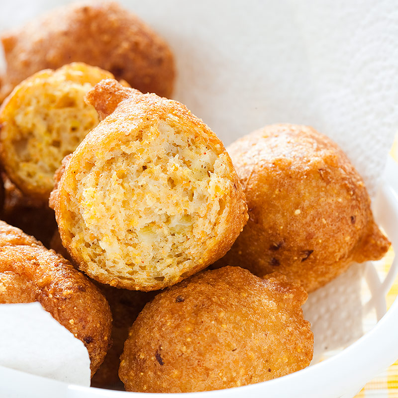 Corn and Red Pepper Hushpuppies Recipe - Cook's Country