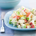 Curried Waldorf Salad with Green Grapes and Peanuts