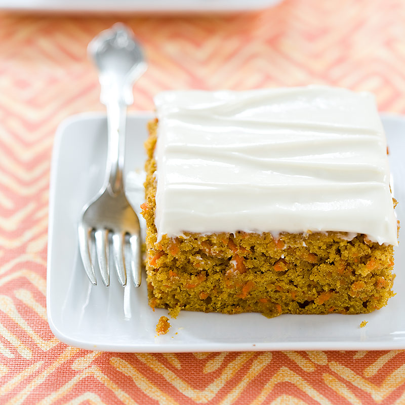 Reduced-Fat Carrot Cake with Cream Cheese Frosting Recipe - Cook's ...