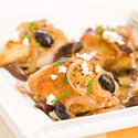 Pan-Seared Chicken Breasts with Olives and Feta