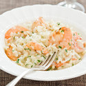 Quick Risotto with Garlic Shrimp
