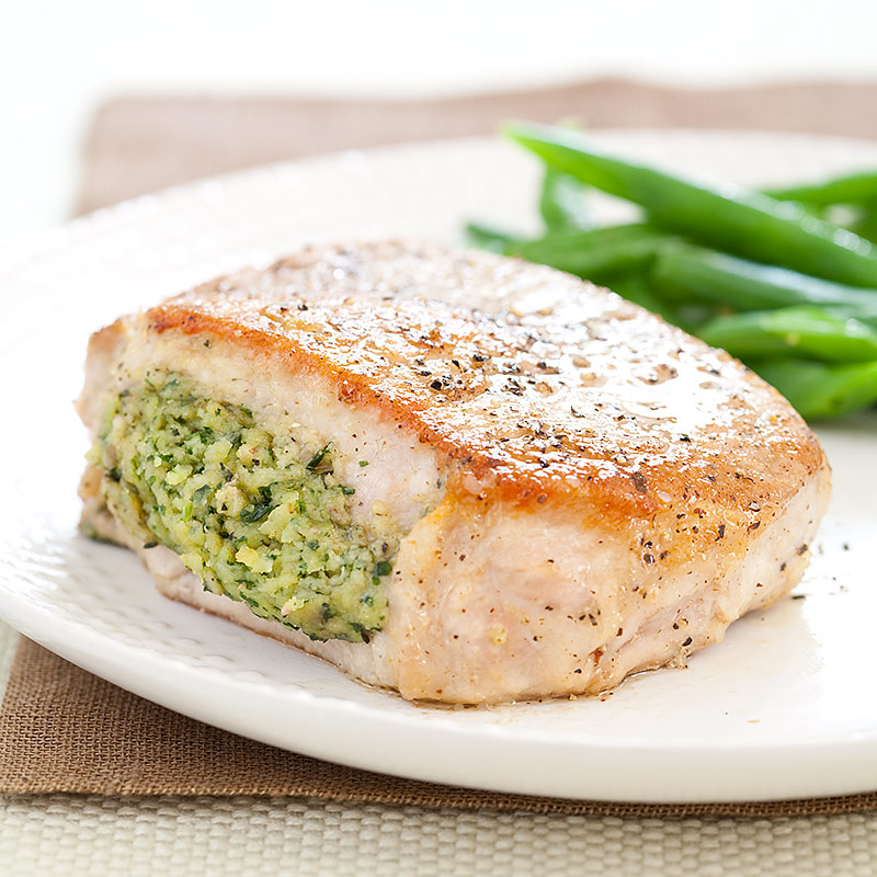 Herb-Stuffed Pork Chops Recipe - Cook's Country