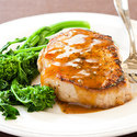 Orange-Chipotle-Glazed Pork Chops