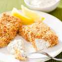 Reduced-Fat Oven-Fried Fish with Tartar Sauce