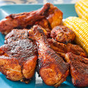 Barbecued Dry-Rubbed Chicken