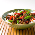 Teriyaki Stir-Fried Beef with Green Beans and Shiitakes
