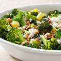 Skillet Broccoli with Garlic, Pine Nuts, and Parmesan