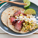Flank Steak Tacos with Grilled Corn Salsa
