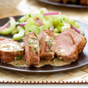 Thai Pork Tenderloin with Cucumber Salad