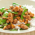 Cashew Pork with Snow Peas and Ginger