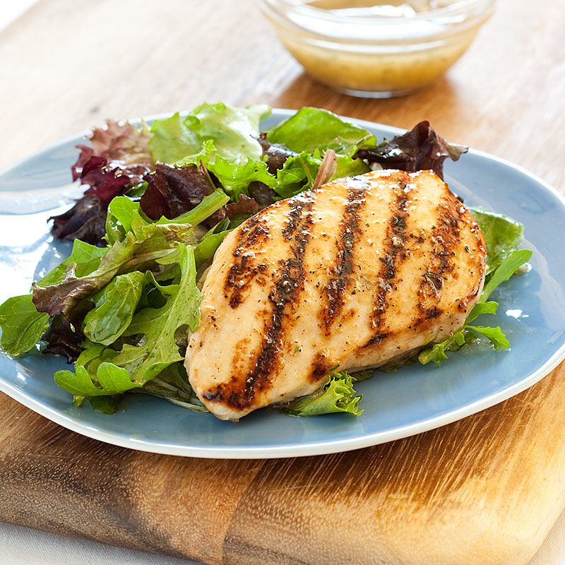 Grilled Rosemary Chicken with Mixed Greens