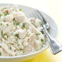 Risotto with Chicken, Lemon, and Basil