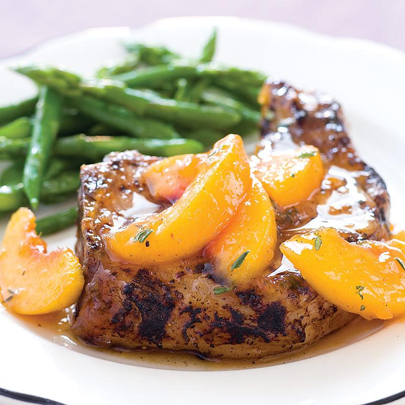 Peach Glazed Grilled Pork Chops